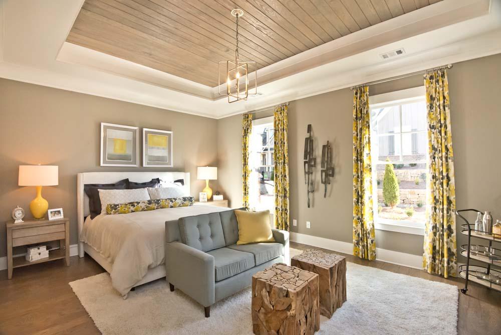 Hardwood trey ceiling feature in Kate B floor plan Owner's suite at Oakhurst Woodstock