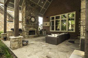 Atlanta new home outdoor living space