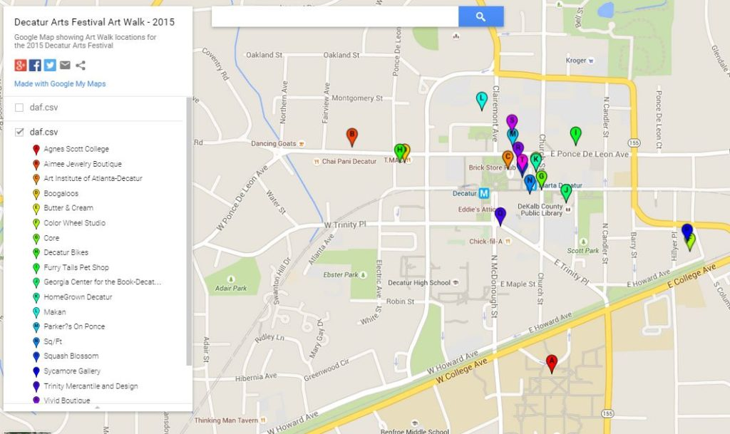 Decatur Arts Festival This Weekend Art Walk Map Here