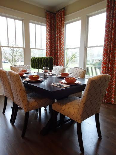 New decorated model home in norcross sneak peek for Model home dining room