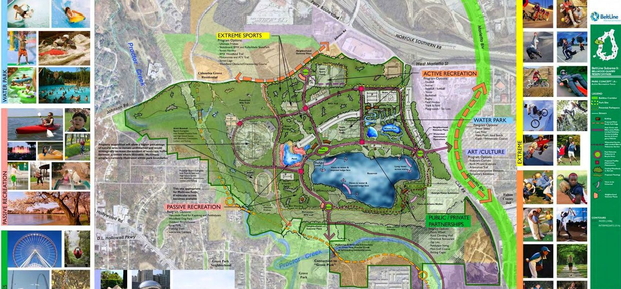 The Beltline Atlanta Map.Westside Reservoir Park Close To New West Midtown Homes