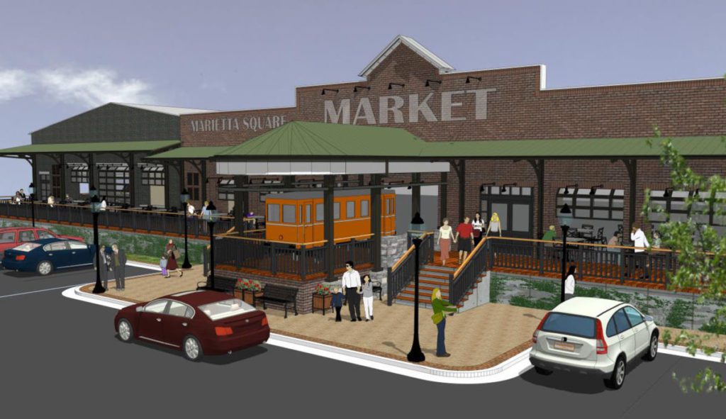 Model of the new Marietta Square Market