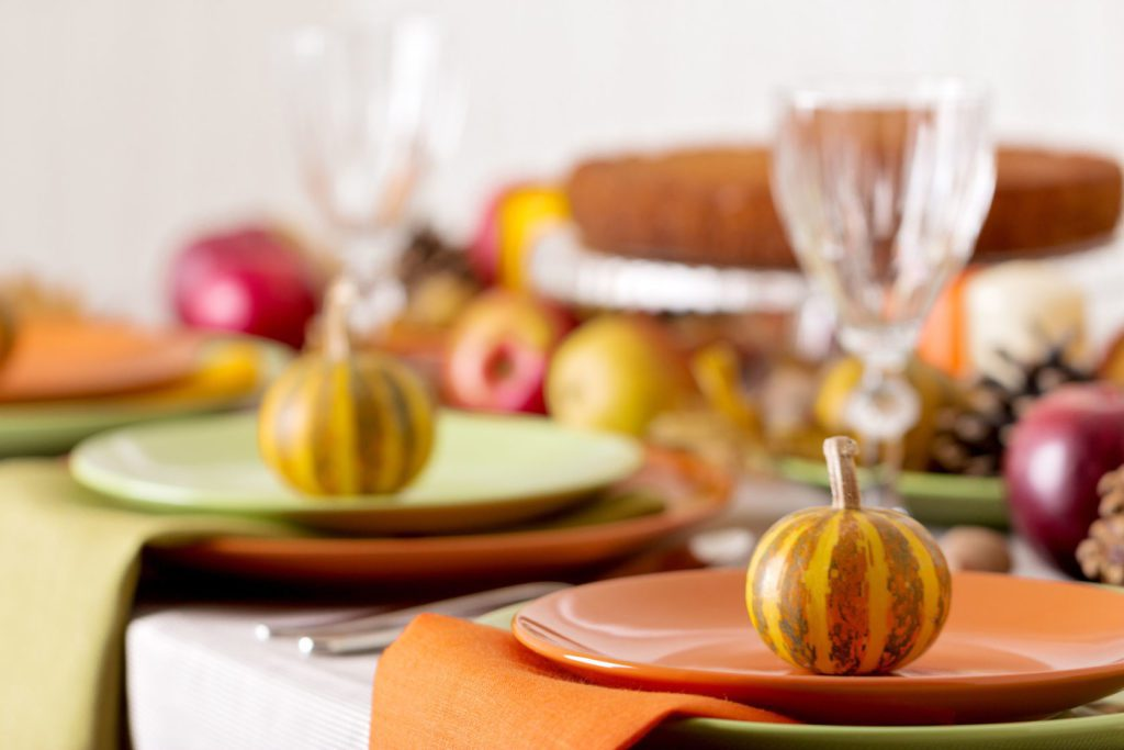 Brightly colored Thanksgiving tablescape ideas