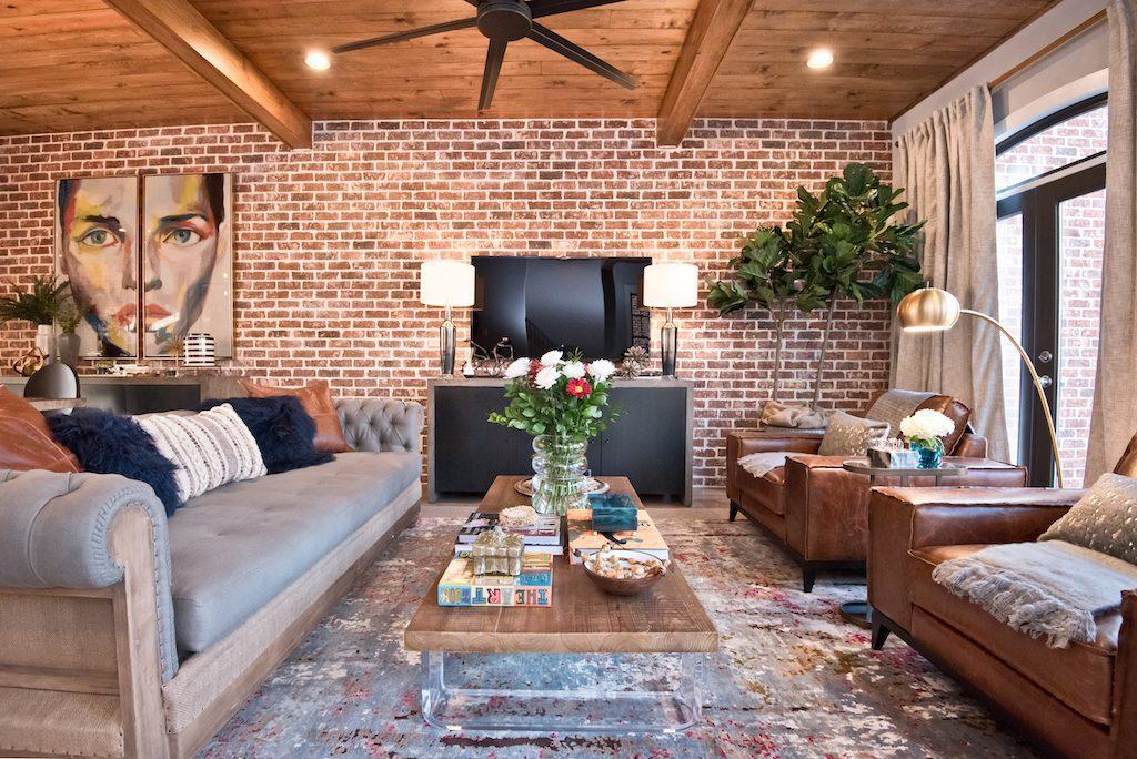 Living area of model home at Westside Station