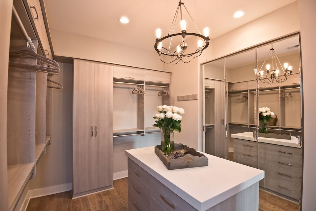 Incredible walk-in closet of Westside Station's new decorated model home