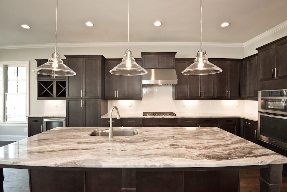 Gourmet kitchen of the Fallbrook IV at Homesite 45