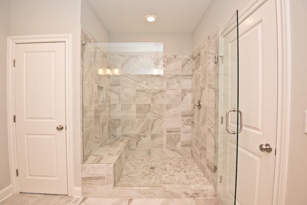 Spacious shower in the Fallbrook IV floor plan