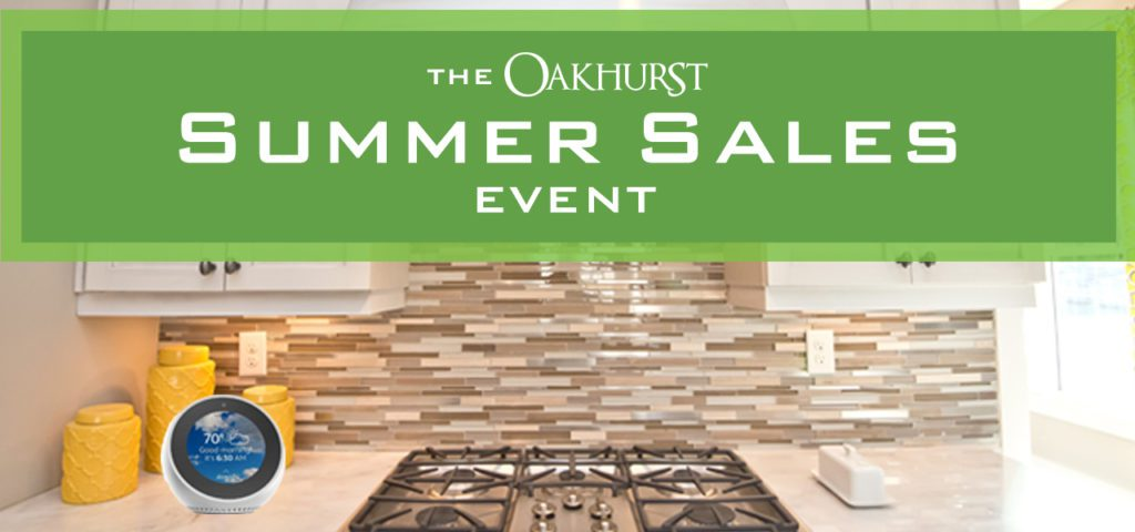 Oakhurst in Woodstock Ga - Summer Sales event, June 16 2018