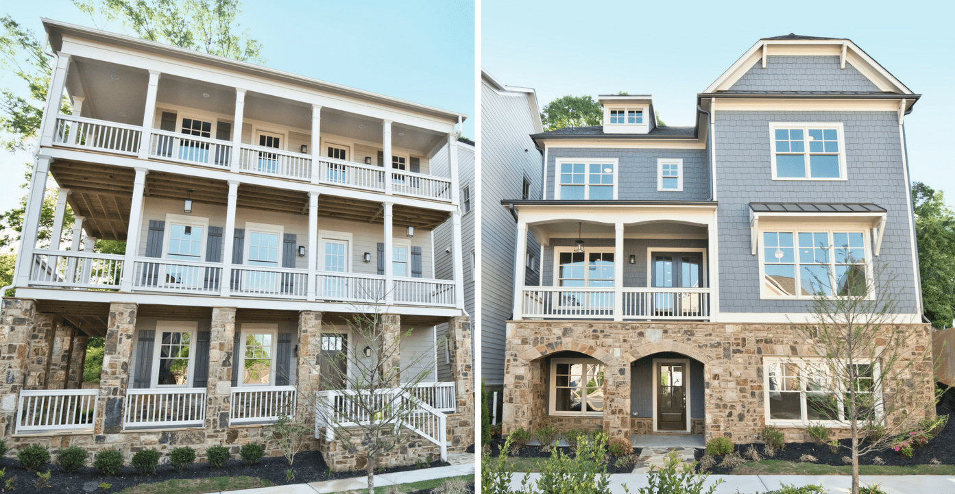 Breathtaking exteriors of new homes at Mangêt in Marietta