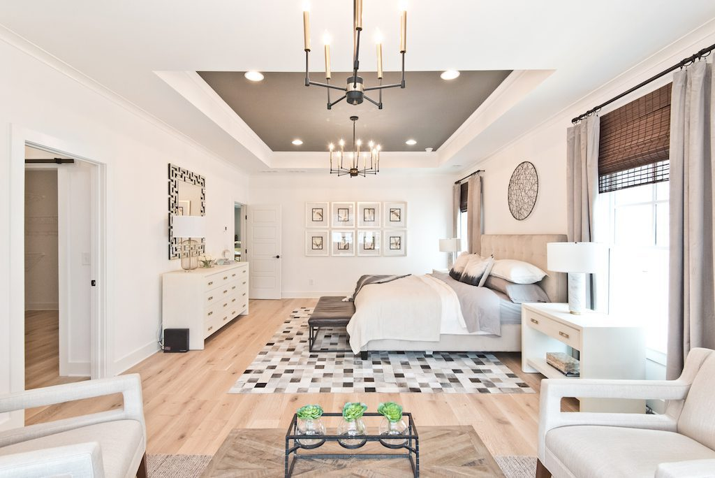 Spacious master suite on the second floor of Westside Station's new model home