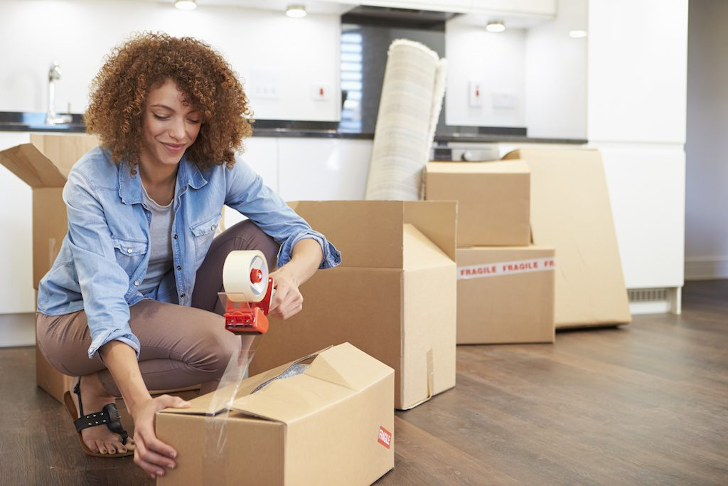 Having an ample supply of moving supplies makes it easier to pack items securely for your move. credit: 123rf com
