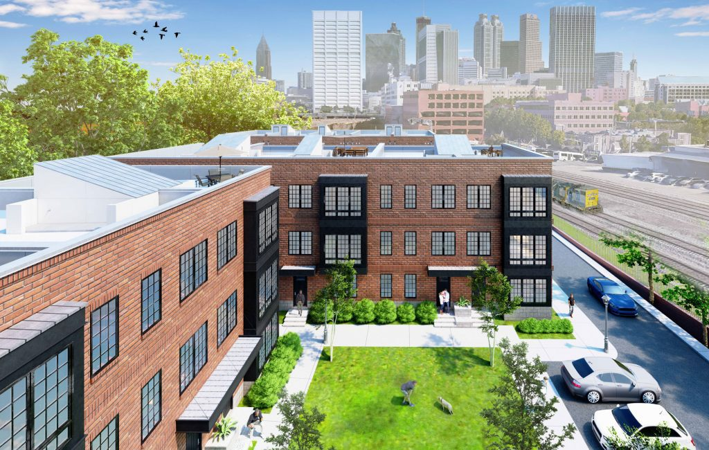 With green space and private terraces, you'll enjoy a tranquil lifestyle with a backdrop of the Atlanta skyline.